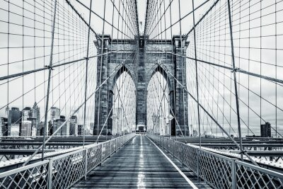 Fototapeta Černá a bílá Brooklynský most
