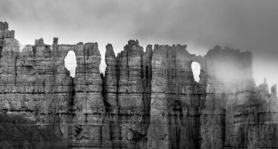 Fototapeta Černá a bílá Bryce Canyon