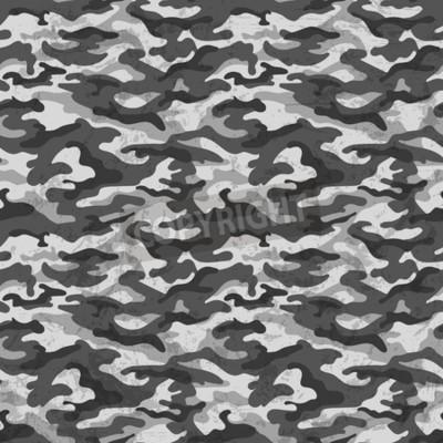 Fototapeta Černá a bílá kamufláž s pozadím grunge efekt. Vektorové ilustrace