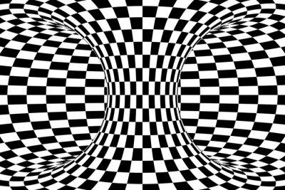 Fototapeta Černá a bílá kostkovaný plodnic abstraktní pozadí