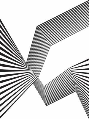 Fototapeta černá a bílá mobious vlna pruh optický abstraktní design