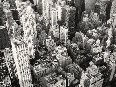 Fototapeta Černá a bílá pohled na střední části New Yorku