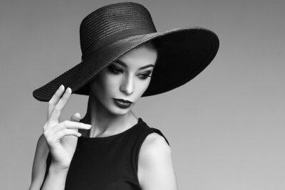 Fototapeta Černá a bílá portrét elegantní ženy