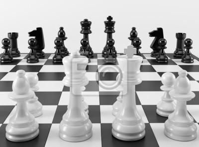 Černá a bílá šachovnice