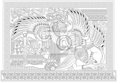 Cerne A Bile Stranky Pro Barveni Kresba Krasne Egyptske Kralovny