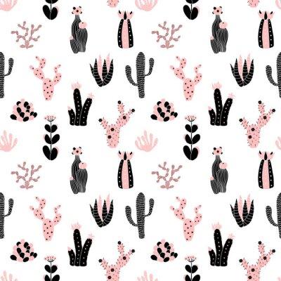 Fototapeta černé a růžové vzor