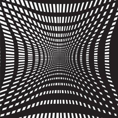 Fototapeta černý tunel a bílé pozadí abstraktní