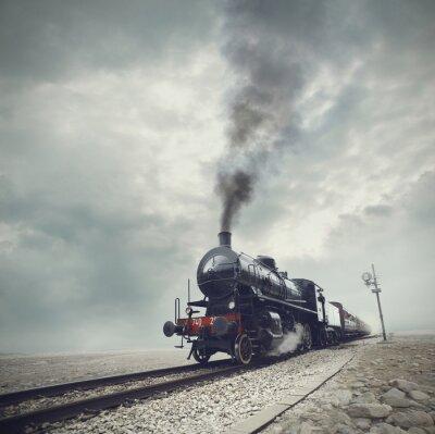 Fototapeta černý vlak