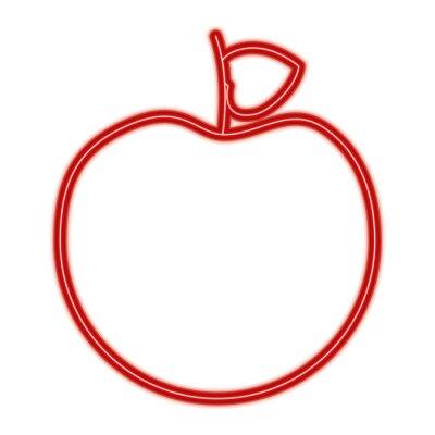 Fototapeta čerstvé chutné ovoce jablko výživa dietu vektorové ilustrace červená linka design