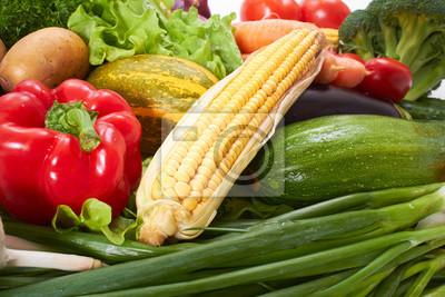 Fototapeta čerstvé zeleniny na bílém