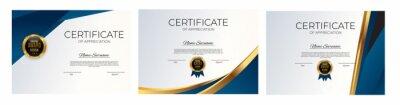 Fototapeta Certificate of achievement template set Background collection set. Award diploma design blank. Vector Illustration