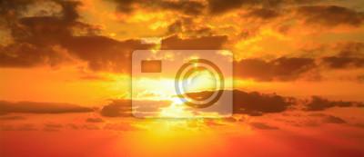 Fototapeta červená obloha ve městě Alghero