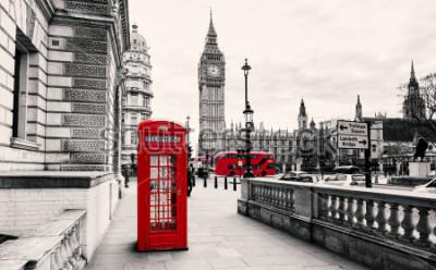 Fototapeta Červená telefonní budka v Londýně