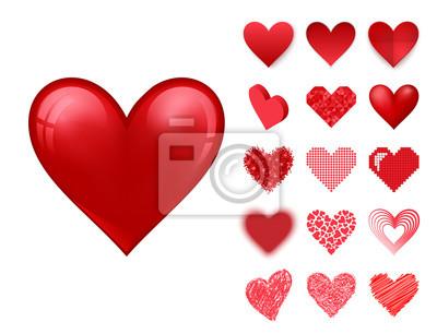 5f26a49a804c Fototapeta Červené srdce ostrý vektor růžové barevné karty krásné oslavovat  jasný emotikon dovolená umění výzdoba.
