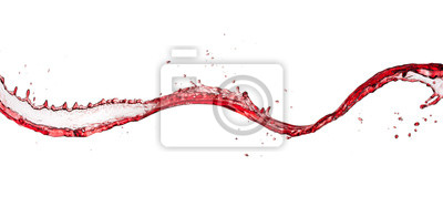 Fototapeta Červené víno abstraktní splash tvar na bílém pozadí