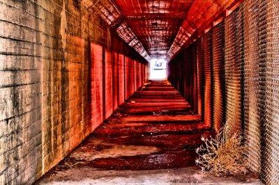 Fototapeta červený tunel