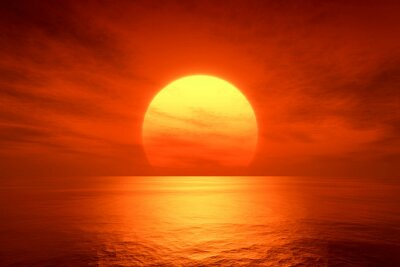Fototapeta červený západ slunce