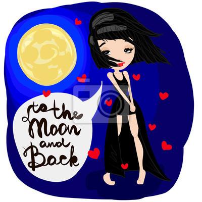 Fototapeta Chcete-li Měsíc a zpět ilustrace 4ef539cdc4