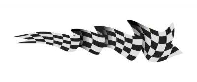 Fototapeta Checkered race flag vector illustration isolated on white