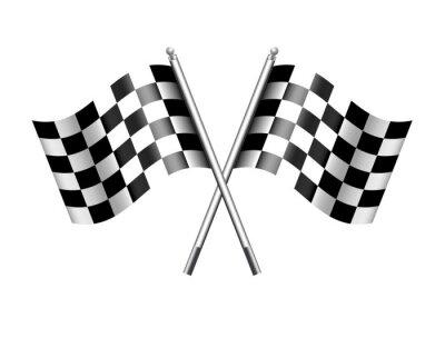 Fototapeta Chequered Vlajky Motor Racing