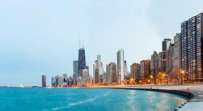 Fototapeta Chicago Panorama Lake Michigan
