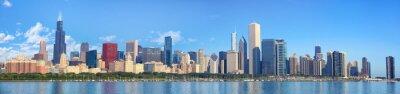 Fototapeta Chicago panorama panorama s výhledem na jezero Michigan, IL, Spojené státy americké