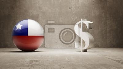 Chile. Peníze Sign koncept.