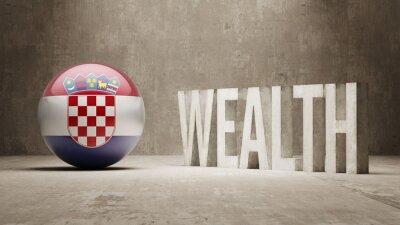 Chorvatska. Bohatství Concept.