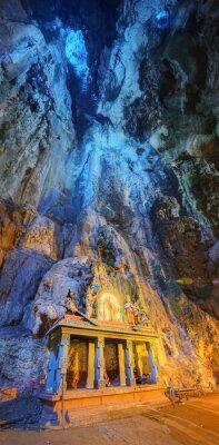 Fototapeta Chrám uprostřed jeskyně v Batu Caves chrámový komplex v Kuala Lumpur