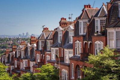 Fototapeta Cihlové domy na panoramatickém výstřel z Muswell Hill, Londýn, Velká Británie