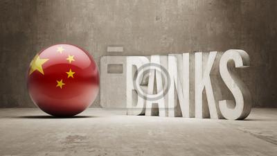 Čína. Banky Concept