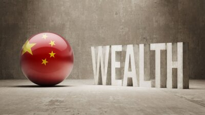 Čína. Bohatství Concept.