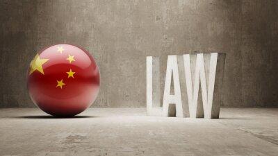 Čína. Law Concept.