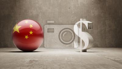 Čína. Peníze Sign koncept.