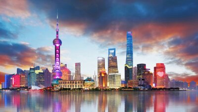 Fototapeta Čína - Shangahi skyline