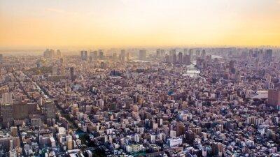 Fototapeta Citiscape Tokia při západu slunce, Japonsko
