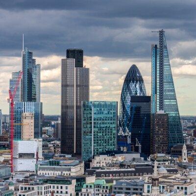 Fototapeta City of London v odpoledních hodinách