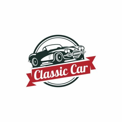 Fototapeta Classic Car Vector šablony