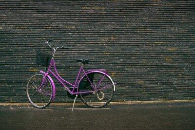 Fototapeta Classic Vintage Purple Hipster kol na ulici