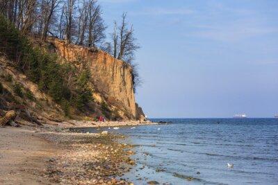 Fototapeta Cliff of Orlowo u Baltského moře, v Polsku