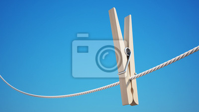 Clothespin with Clipping Path