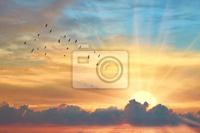 Fototapeta Cloud večerní obloha při západu slunce