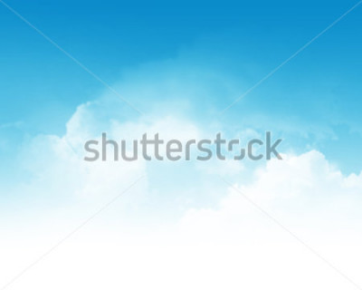 Fototapeta Cloudy blue sky abstract background