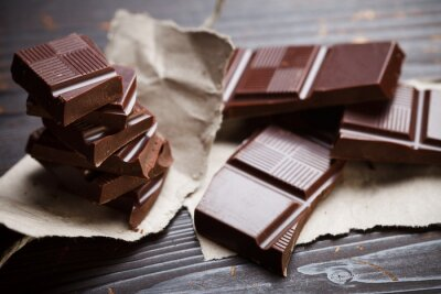 Fototapeta Čokoláda s rustikálním papírem