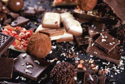 Fototapeta čokoládové bonbóny