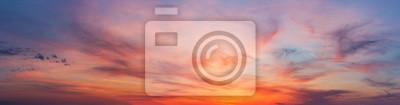 Fototapeta Colorful sunset twilight sky