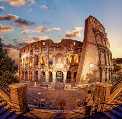 Fototapeta Colosseum v noci, Řím, Itálie