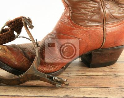 Cowboy boot a spur fototapeta • fototapety bez sedla 7f9908671f