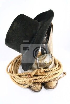 Cowboy gear pohled shora fototapeta • fototapety bez sedla 204af4422a