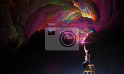 Fototapeta creativity imagination and dreams concept.